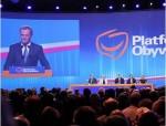 Donald Tusk na konferenci PO