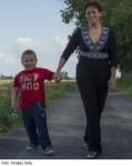 Lucyna Łacina s vnukem Maćkiem