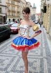 Gabriela Kratochvílová v národním kostýmu