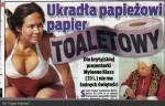 Ukradla papeži papír toaletní