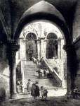Francesco Guardi Schody do paláce