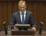 Donald Tusk v Sejmu