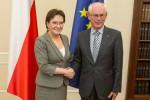 Ewa Kopacz s Hermanem Van Rompuyem foto zroj facebbok EK