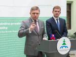Premiér Robert Fico ministr životního prostředí Peter Žiga autor fota Luboš Pilc