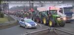 Polské traktory u Varšavy