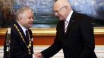 Václav Klaus a Lech Kaczyński na archivním snímku. Polský prezident obdržel Řád bílého lva. foto Jan Handrejch Právo