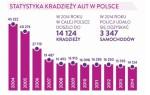 statistika krádeží aut v Polsku