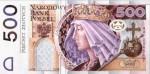 500zł-banknot návrh grafiky il foto není v oběhu